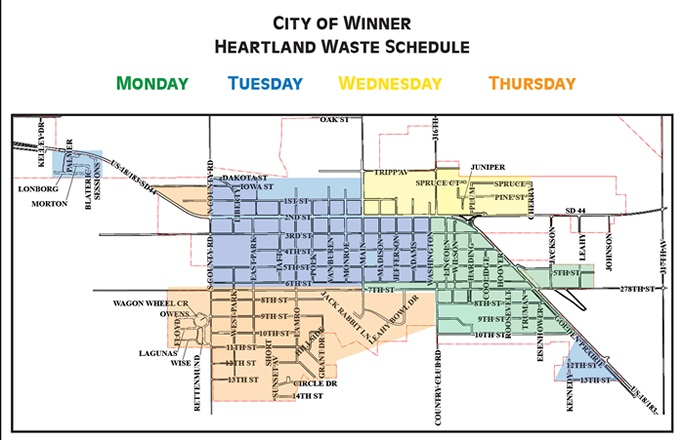 Heartland Waste Management Pickup Schedule